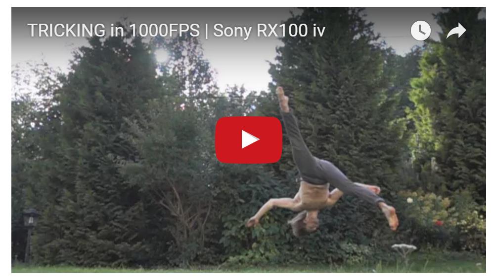 Slowmotion acrobatics